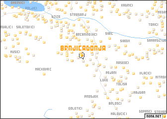 map of Brnjica Donja