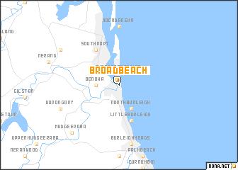 Broadbeach Australia Map Nona Net
