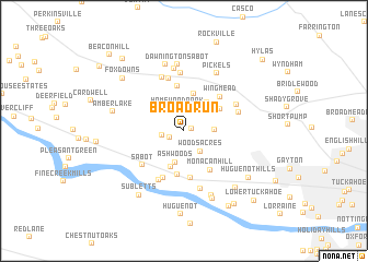 map of Broad Run