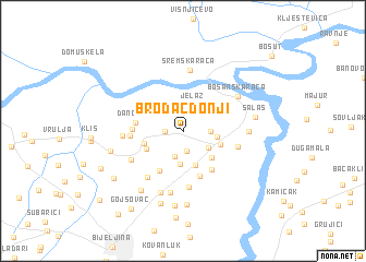 map of Brodac-Donji