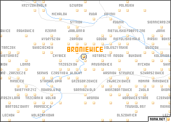 map of Broniewice