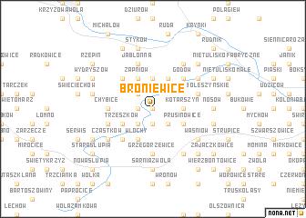 map of Broniewice