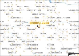 map of Bronisławów