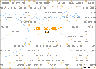 map of Broniszew Nowy