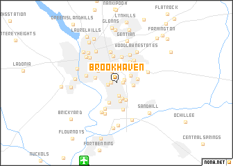 Brookhaven United States USA Map Nonanet - Brookhaven ga on us map