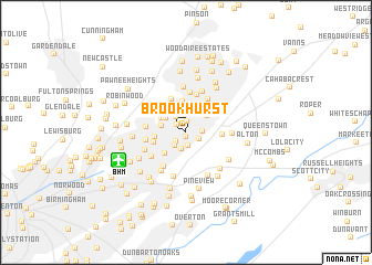 map of Brookhurst