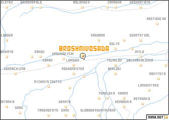 map of Broshniv-Osada