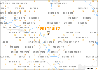 map of Brottewitz
