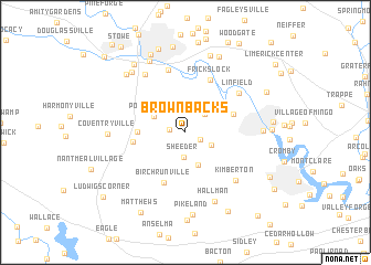 map of Brownbacks