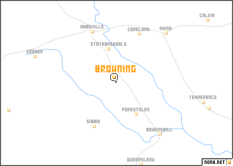 map of Browning