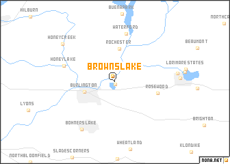 map of Browns Lake