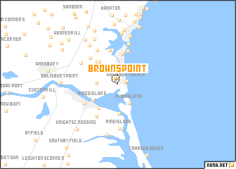 map of Browns Point