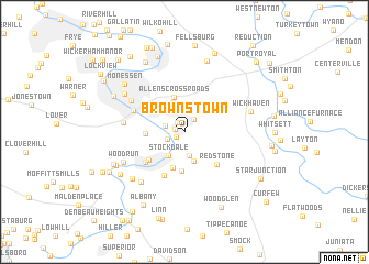 map of Brownstown
