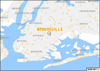 Brownsville United States USA Map Nonanet - Usa map ny