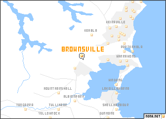map of Brownsville