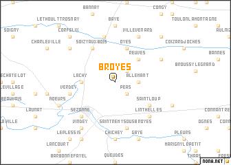map of Broyes