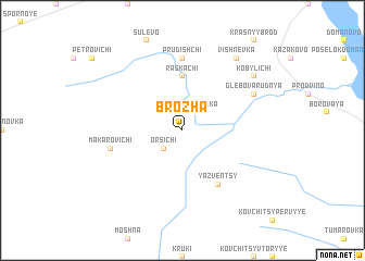 map of Brozha