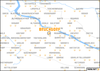 map of Bruchdorf