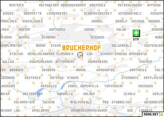 map of Brücherhof