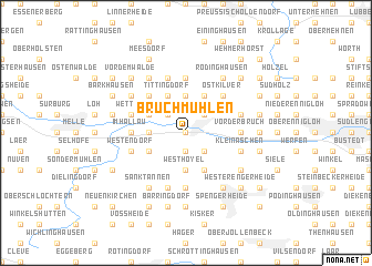 map of Bruchmühlen