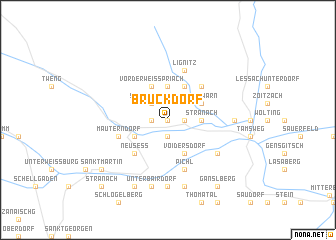 map of Bruckdorf