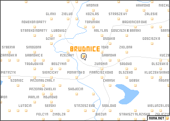 map of Brudnice