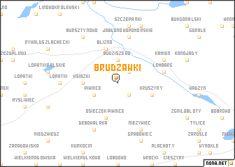 map of Brudzawki