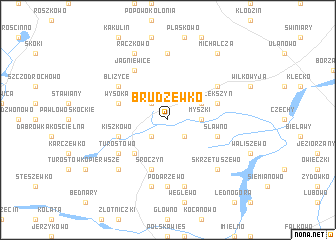 map of Brudzewko