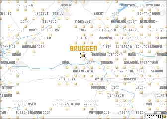 map of Brüggen