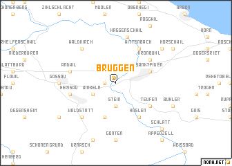map of Bruggen