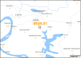 map of Brumley