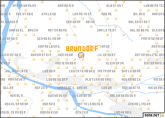 map of Brundorf