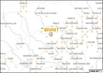 map of Brunet