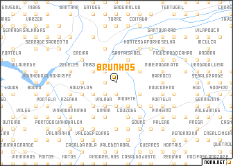 map of Brunhos