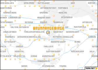 map of Brunn am Gebirge