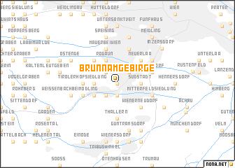 map of Brunn am Gebirge