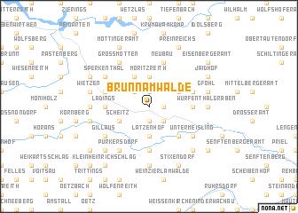 map of Brunn am Walde