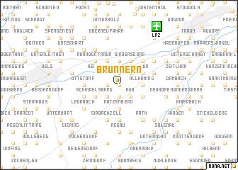 map of Brunnern