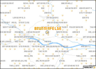 map of Brunn im Felde