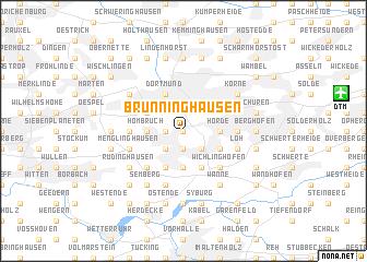 map of Brünninghausen