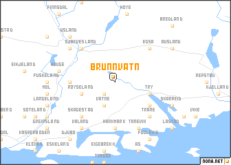 map of Brunnvatn