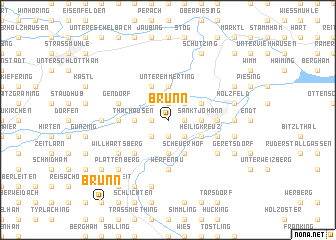 map of Brunn