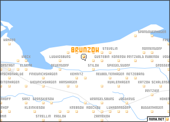 map of Brünzow