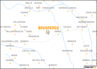 map of Brusnengo