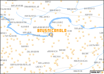 map of Brusnica Mala