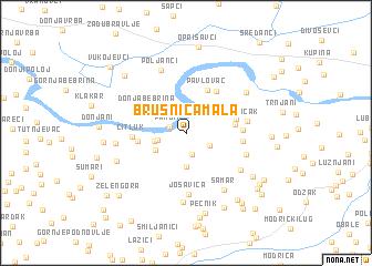 map of Brusnica Mala