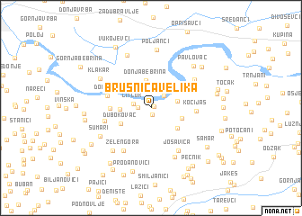 map of Brusnica Velika