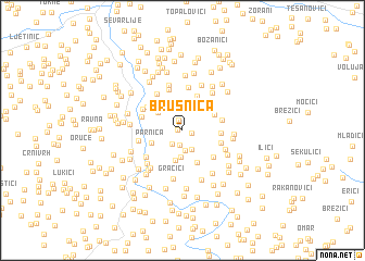 map of Brusnica