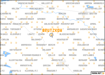 map of Brützkow