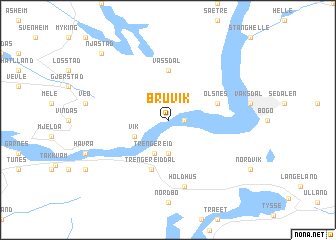 map of Bruvik